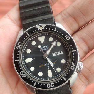 Seiko Diver 7548 Quartz patina dial..