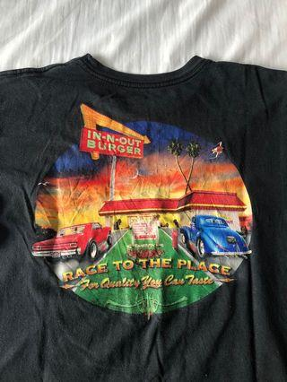 in & out graphic vintage tee