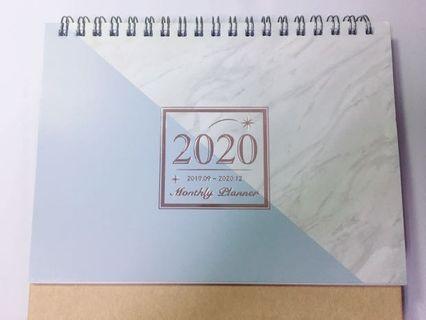 [2020年]大理石紋橫式月曆