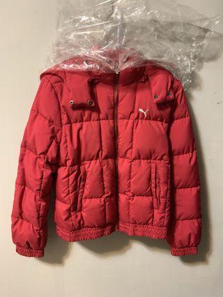 Puma紅色羽絨外套