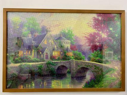 Completed 1000 pieces puzzle