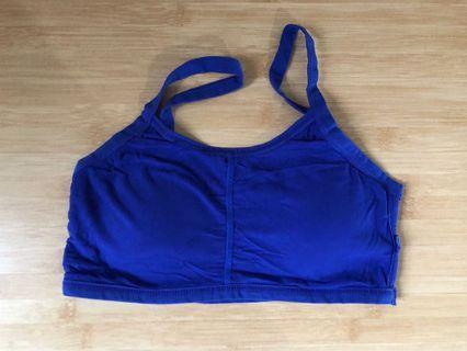 Electric blue sports bra