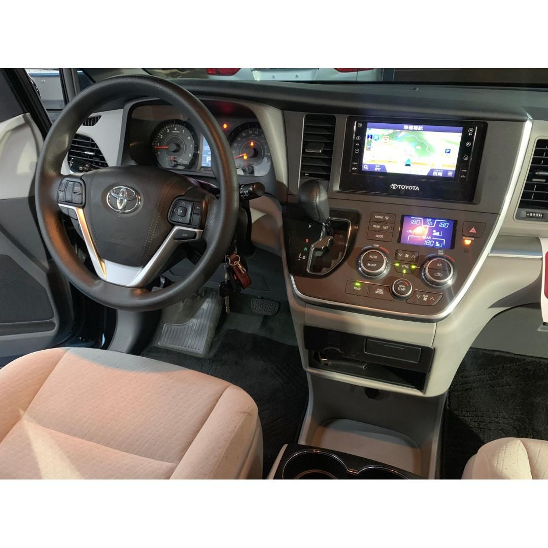 正2016年出廠 最新款Toyota Sienna 3.5V6 曜石黑.自然進氣引擎