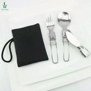 sendok set foldable 4 in 1 25k!! #bagibagi
