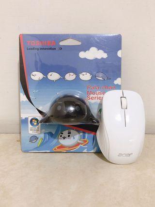 (全新)買一送一 Toshiba 東芝 pala chan 海豹造型 有線滑鼠 限量版 贈送Acer 無線滑鼠