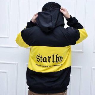 Jaket Sweater Hoodie untuk Pria dan Wanit VC Staring Kuning