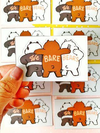 💖WATERPROOF💖 WeBareBears Shaved Backs Luggage / Laptop Sticker #475