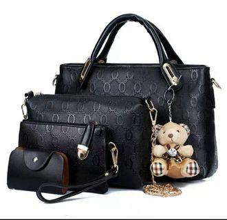 Womens fashionable 4 in 1 hand bags
