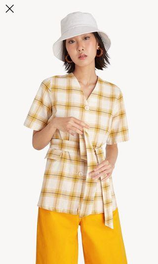 Pomelo tartan blouse (NEW with tag)