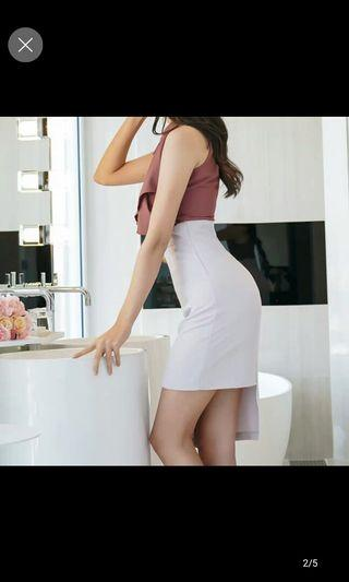 Sexy office 2 piece dress