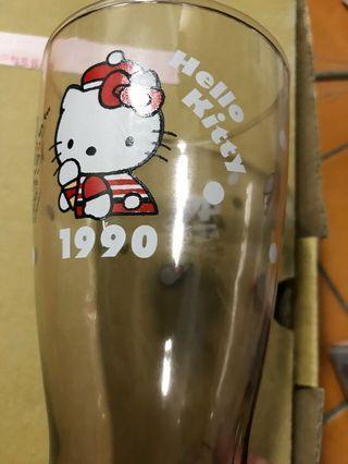 Hello kitty 40週年 經典玻璃曲線杯