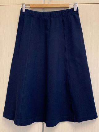 🛍(保留中)二件合購區🛍 #UNIQLO U #深藍色 #棉質圓裙