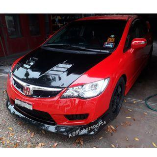 Honda Civic FD TypeR Bodykit Set With Color & Install