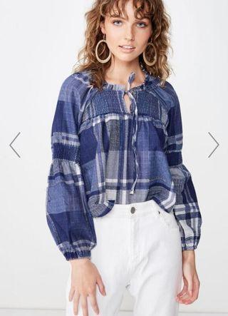 Cotton On Breanne Blouson Sleeve Top