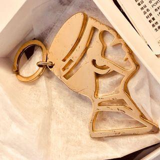 Porter International 金色大頭招牌Logo 鑰匙圈包包掛飾 飾品