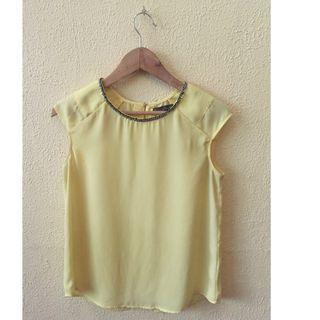 Plains & Prints yellow blouse