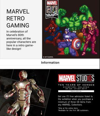 [PREORDER] Uniqlo 2019FW Marvel Retro Gaming Shopping Service (17-20th September, 2019)