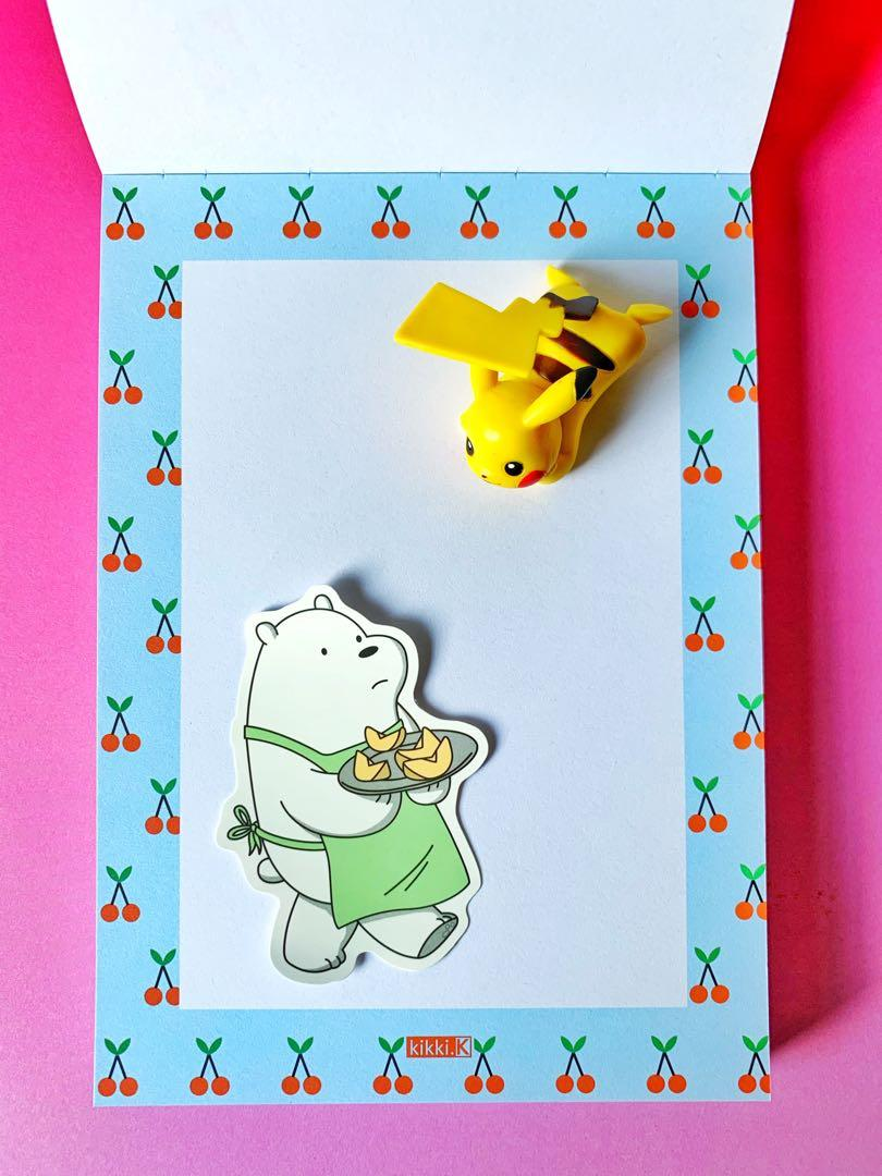 💖WATERPROOF💖 Ice Bear Serving Fruits Luggage / Laptop Sticker #477