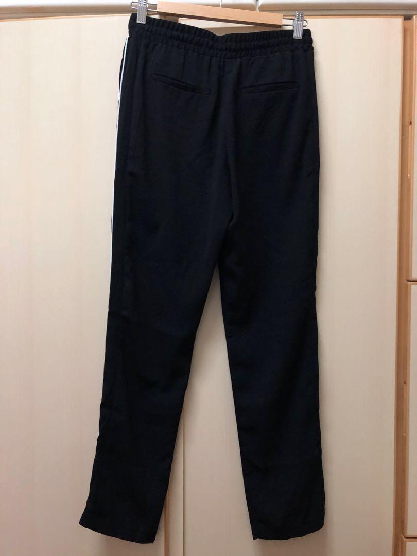 ♥️ Pull & Bear black trouser 黑色 橡筋褲頭 長褲