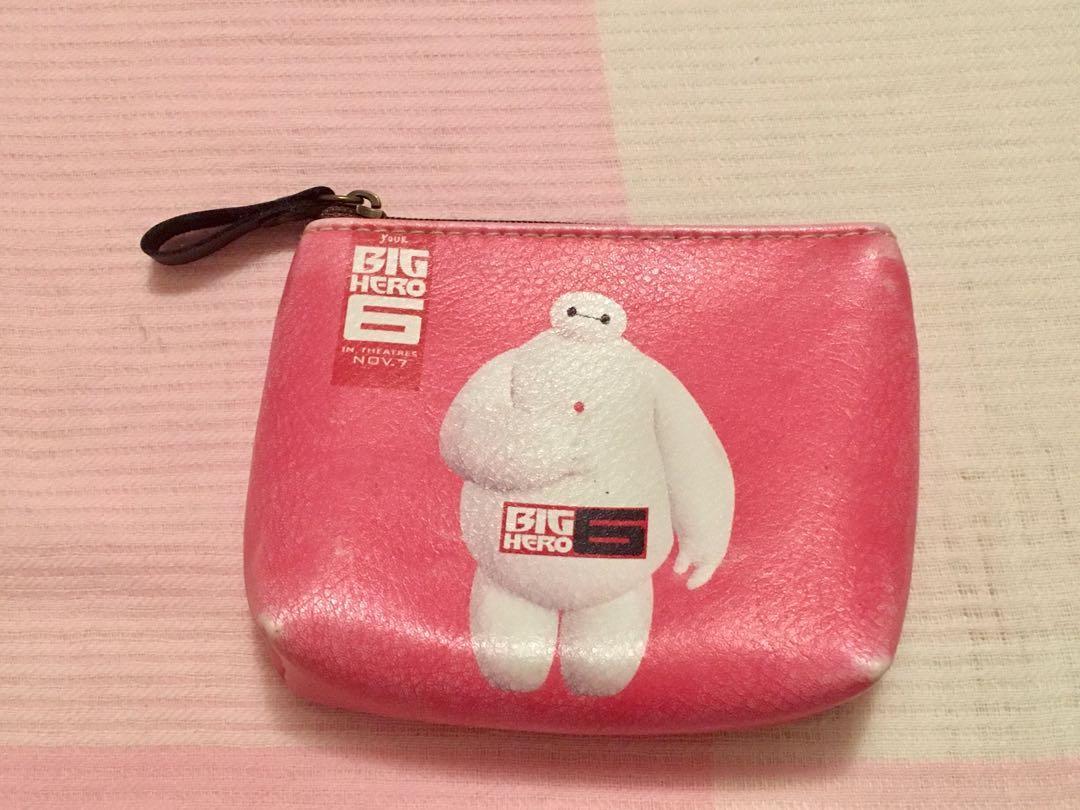 Artificial leather baymax big hero 6 coin purse wallet zipper