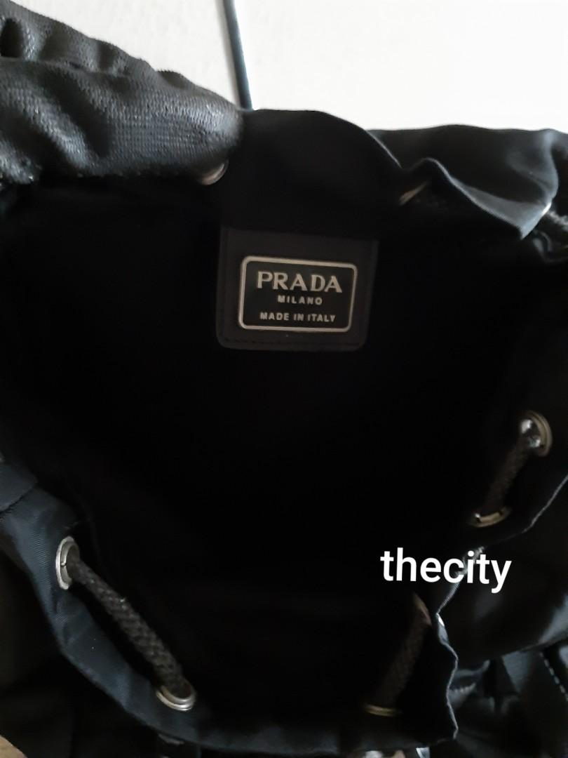 AUTHENTIC PRADA BLACK NYLON CANVAS BACKPACK - NEWER DOUBLE CLASP BUCKLE DESIGN - CLEAN INTERIOR,  OVERALL IN GOOD CONDITION- (PRADA BACKPACKS NOW RETAIL NEARLY RM 6000+)