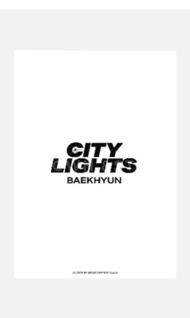 Baekhyun City Lights Postcard Book (Official Goods)