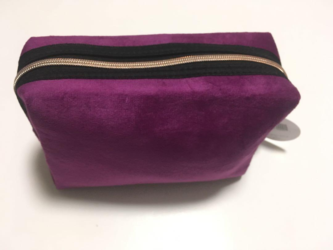 Be Bold With Beauty Cosmetics Makeup Bag Purple Velvet Shoppers Drug Mart