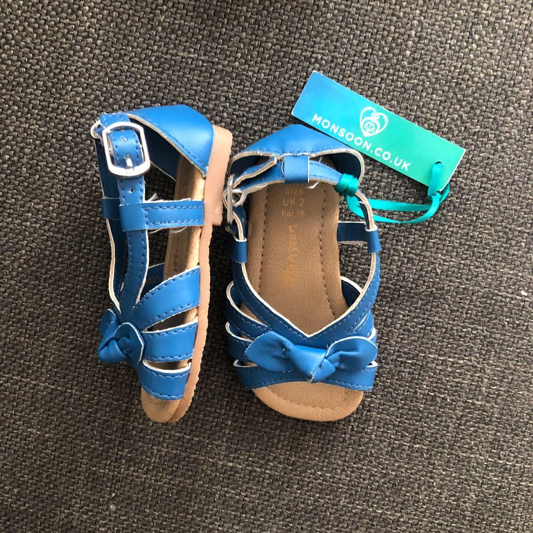 Blue baby girl sandals shoes - size EUR