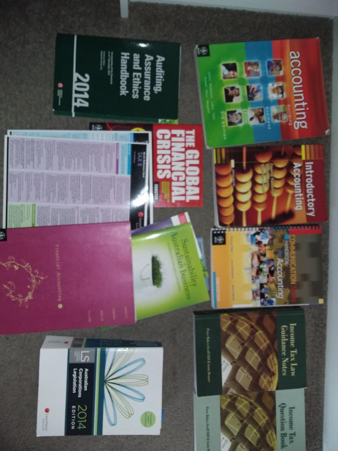 Bulk Lot University TAFE Accounting Commerce Textbooks