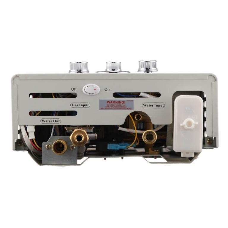 Devanti Outdoor Portable LPG Gas Hot Water Heater Shower Head 12V Water Pump Beige