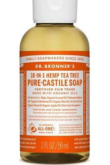 Dr. Bronner Castile Liquid Soap - Tea Tree TRAVEL SIZE 59ml BRAND NEW & AUTHENTIC [PRICE IS FIRM] NO SWAPS
