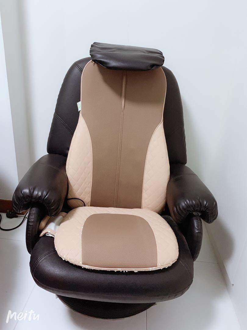 Genuine Leather Recliner Sofa Set 3