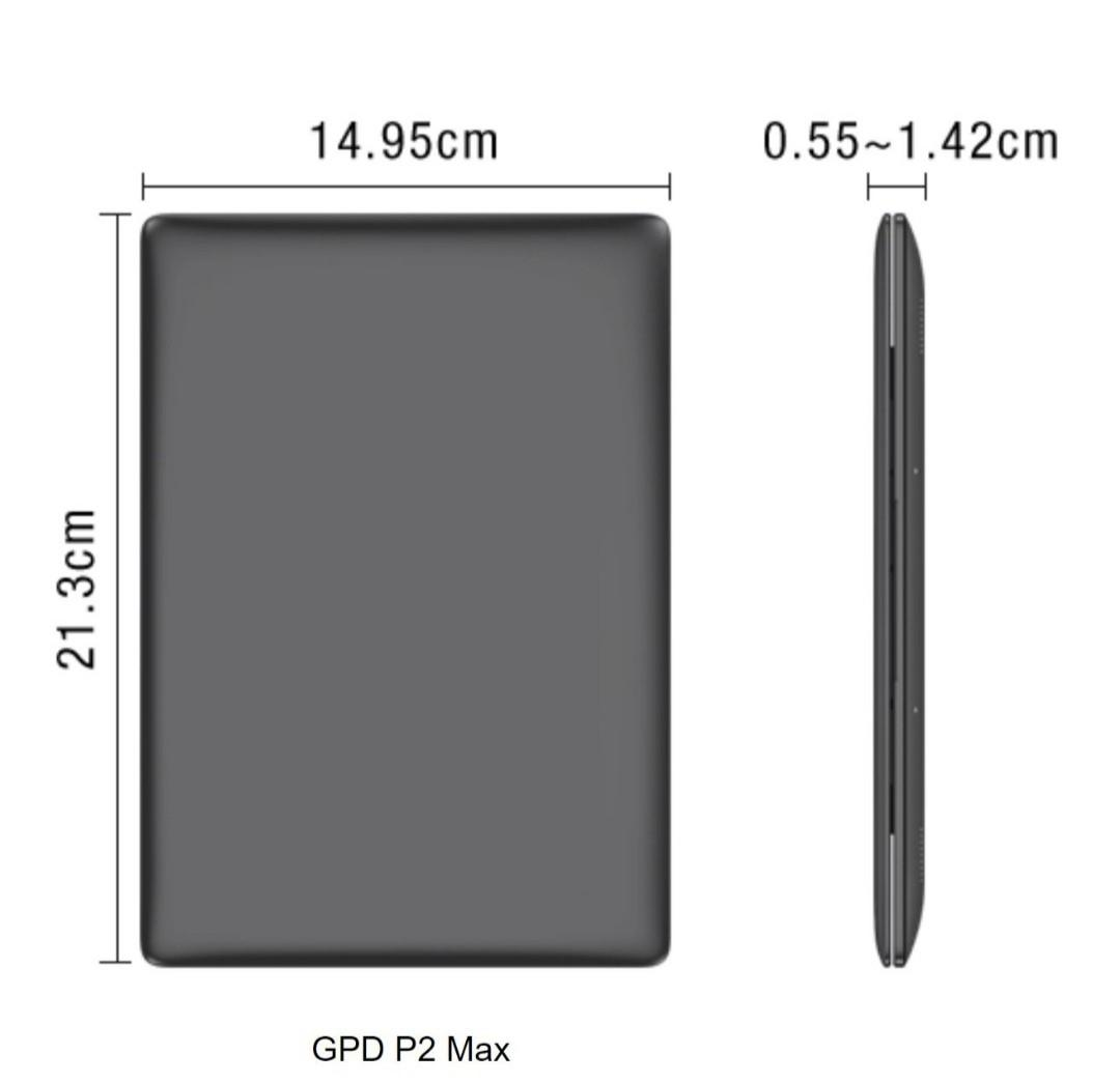 "GPD P2 Max Smallest Lightest 8.9"" Intel Celeron Ultrabook at 650g 2019"