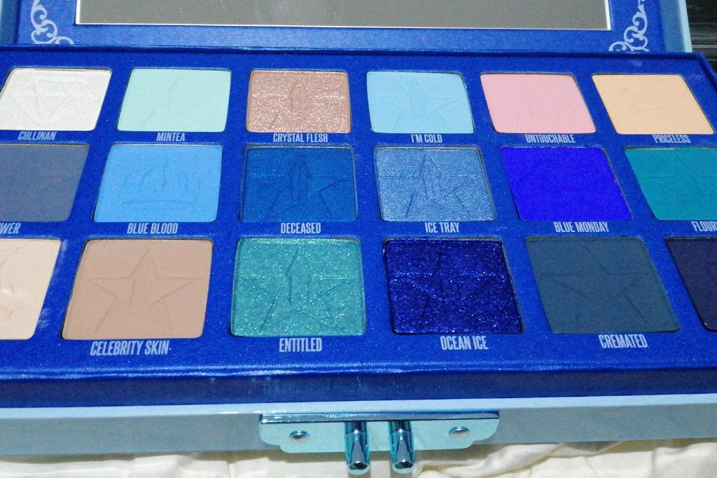 JEFFREE STAR COSMETICS BLUE BLOOD PALETTE SHADE WEALTHY NQR. NEW + AUTH
