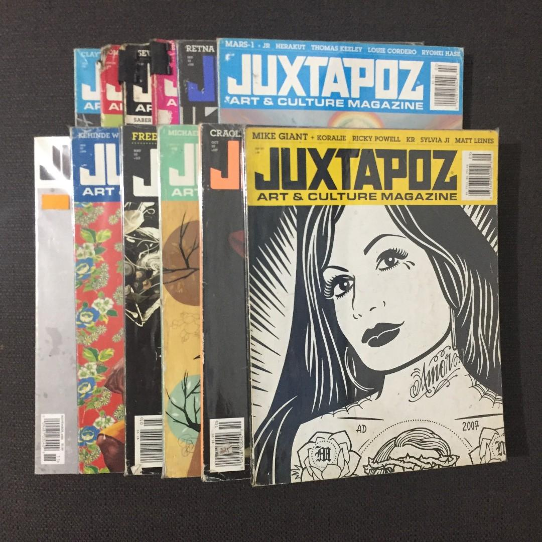 Juxtapoz Magazine (Back Issue Lot Sale) w/ FREE Hi-Fructose and Clavel Back Issues