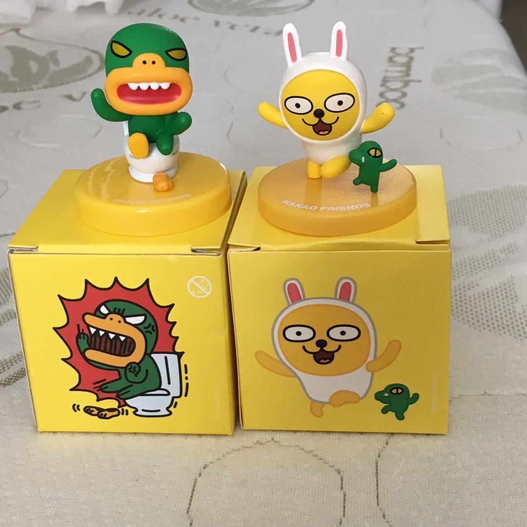 Kakao Friends Merch Mini Figures - Muzi & Con and Tube