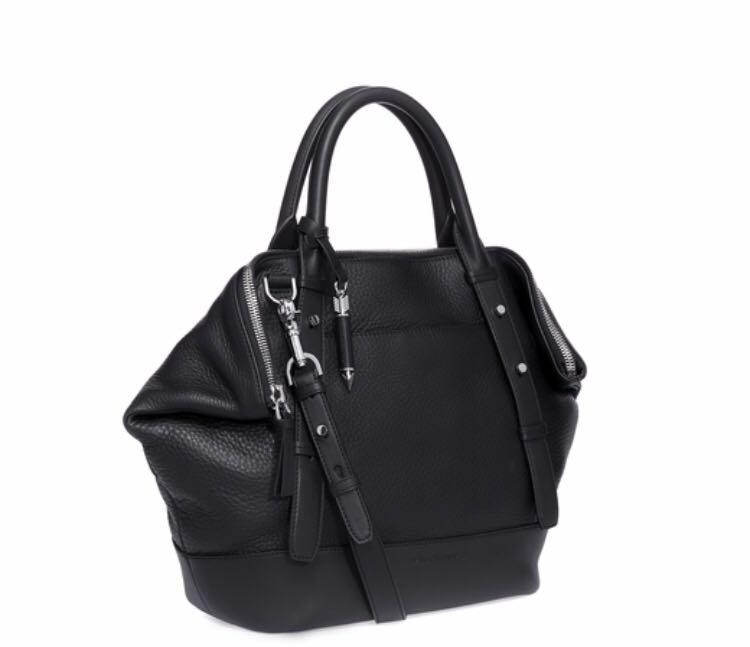 Mackage RAFFA Large Convertible Satchel Bag in Black Leather