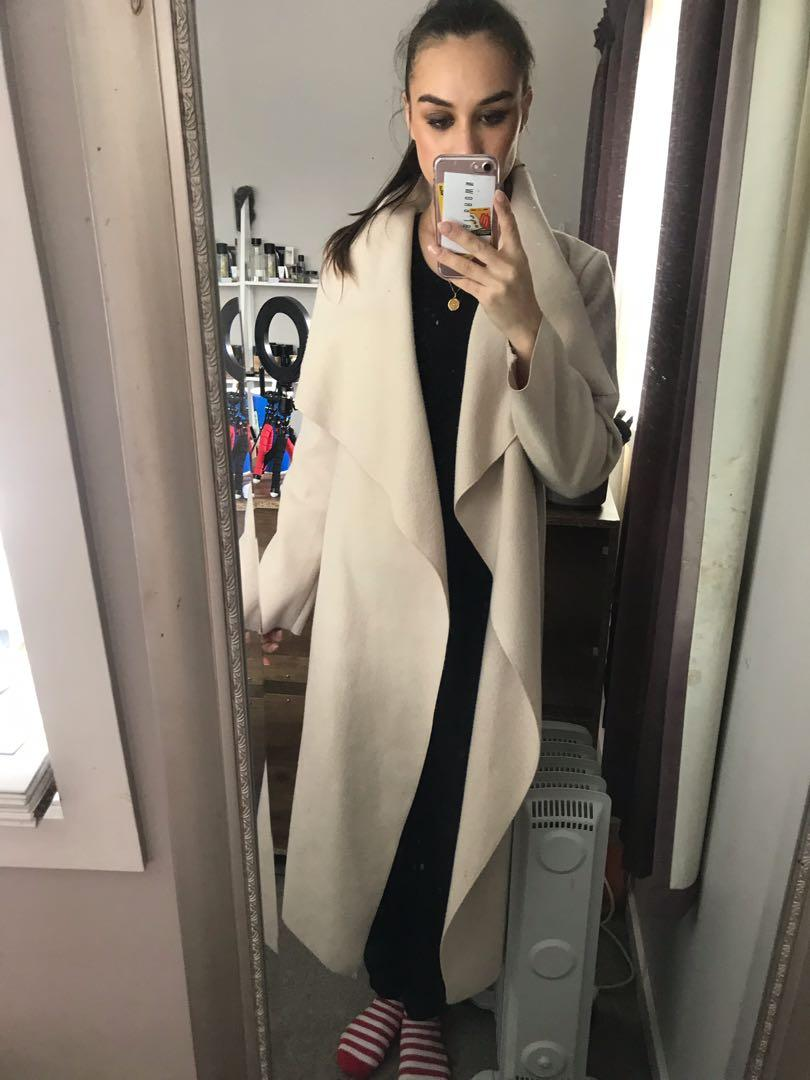 Misguided waterfall coat