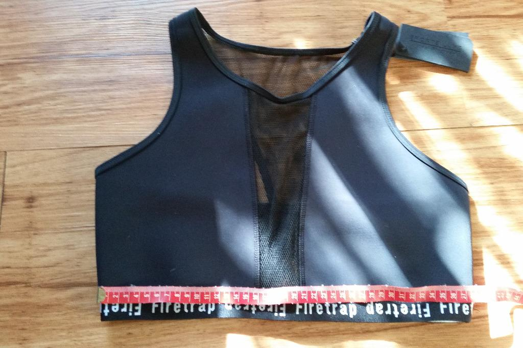 Neoprene Mesh Insert Racerback Sport or Swim Crop by Firetrap Size 12-14 Stretchy