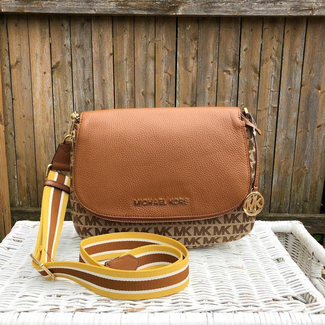 ORIGINAL Michael Kors Bedford Medium Convertible Shoulder Bag in Signature Beige/Ebony