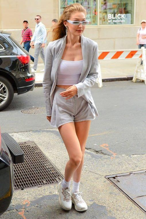 Pfeiffer the Label blazer and shorts set Gigi Hadid