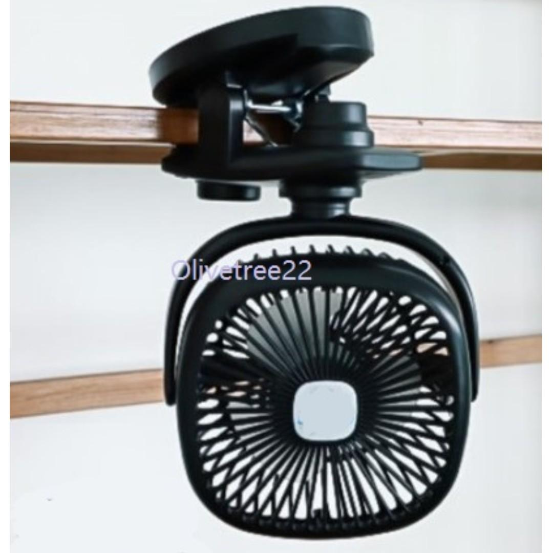 Portable Handheld Tabletop Clip-On Stroller Oscillating Fan