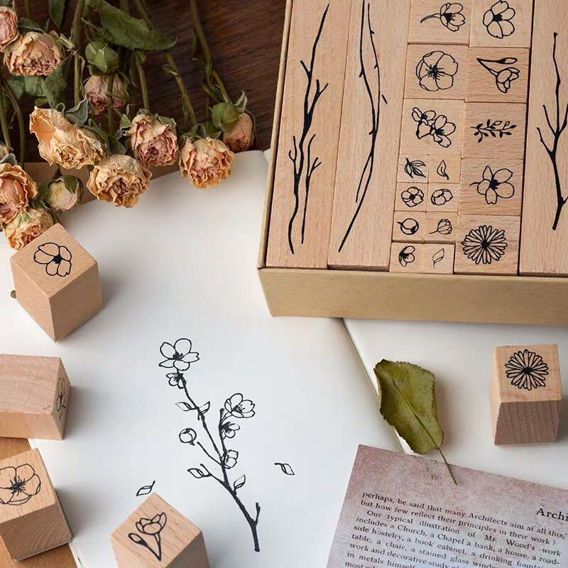 Preorder - Wooden Rubber stamp