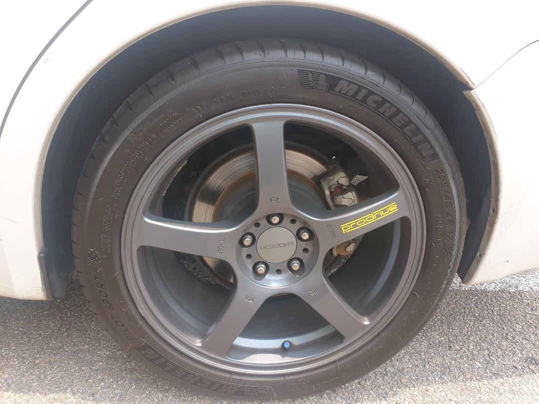 17 inch Prodrive Rim fit Subaru Impreza WRX