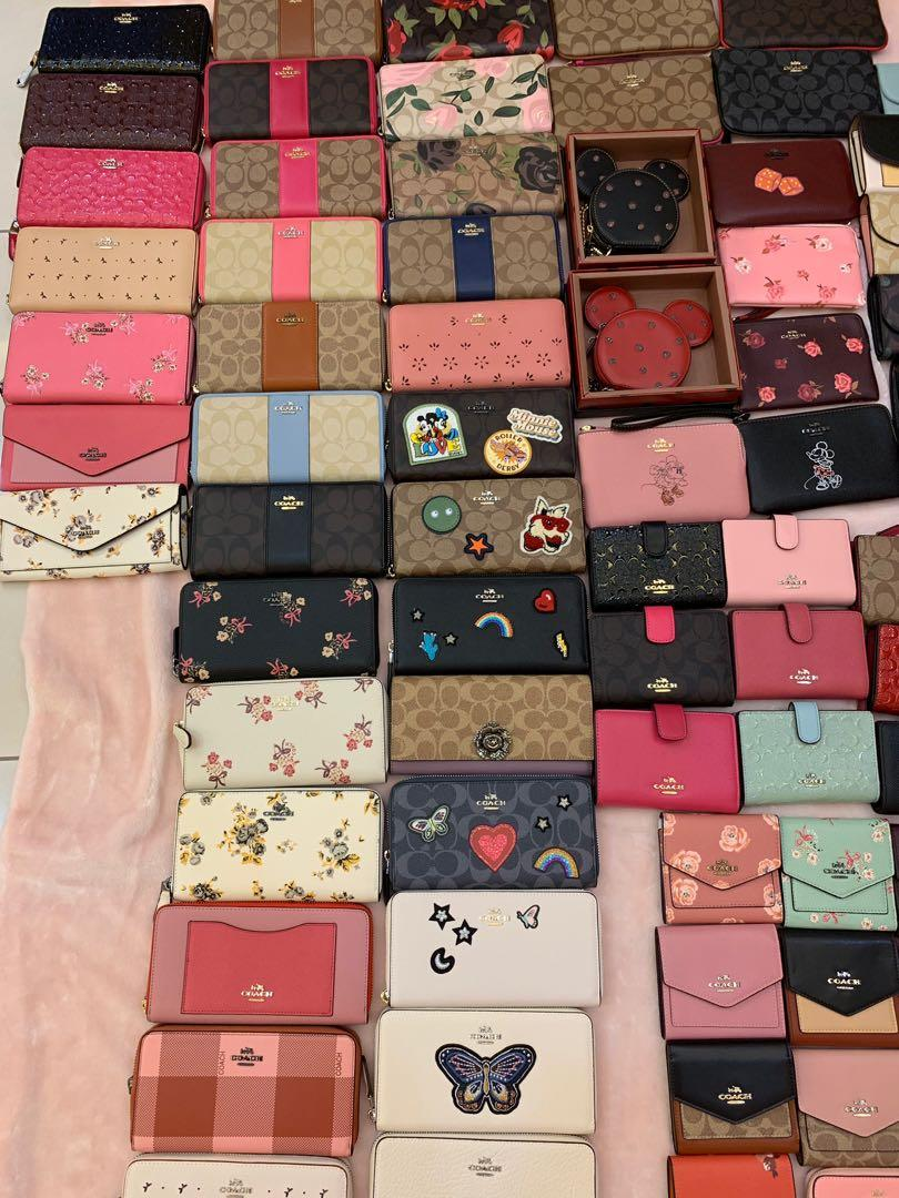 Ready Stock Authentic coach women wallet purse clutch backpack wristlet Tory Burch Kate Spade coin pouch chjhhnn