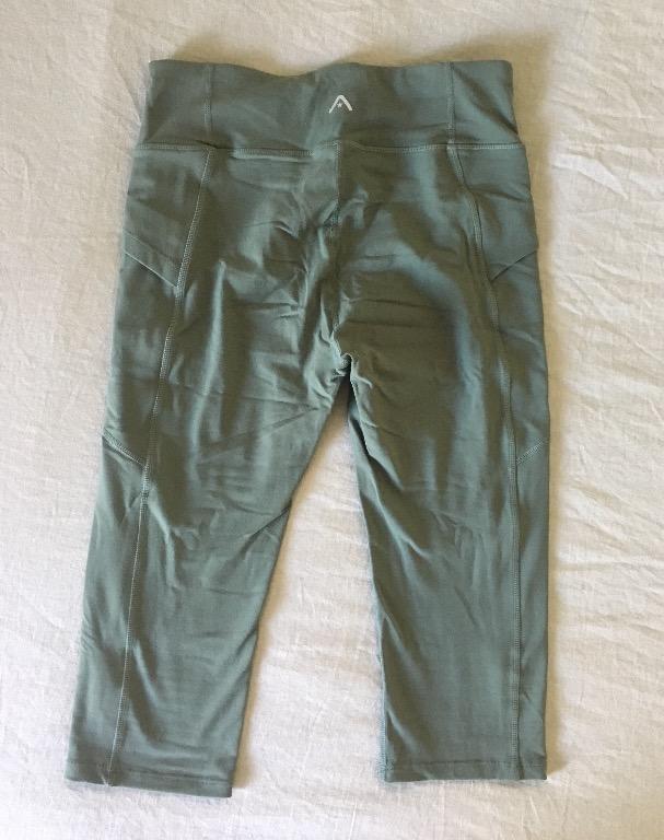 Rockwear Concealed Pocket 3/4 Tights in Olive - Size 10