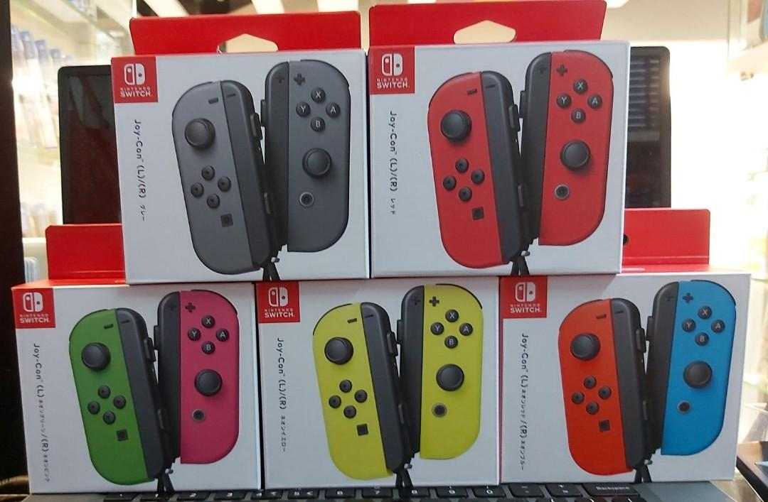 香港行貨switch joycon 返齊色