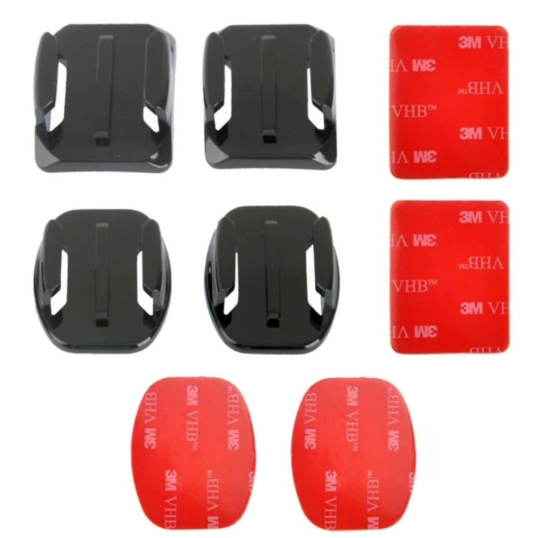 TGP050 GoPro Flat Curved Adhesive Mount (Action Camera Action Session Hero Insta 360)