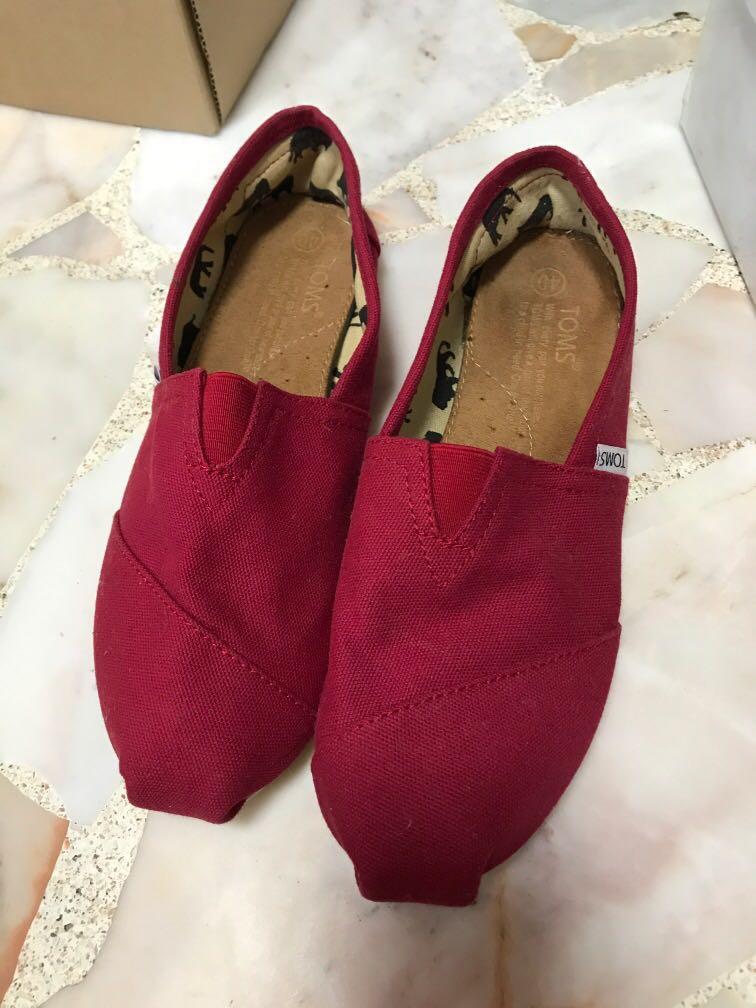 Toms shoes sneakers red, Women's