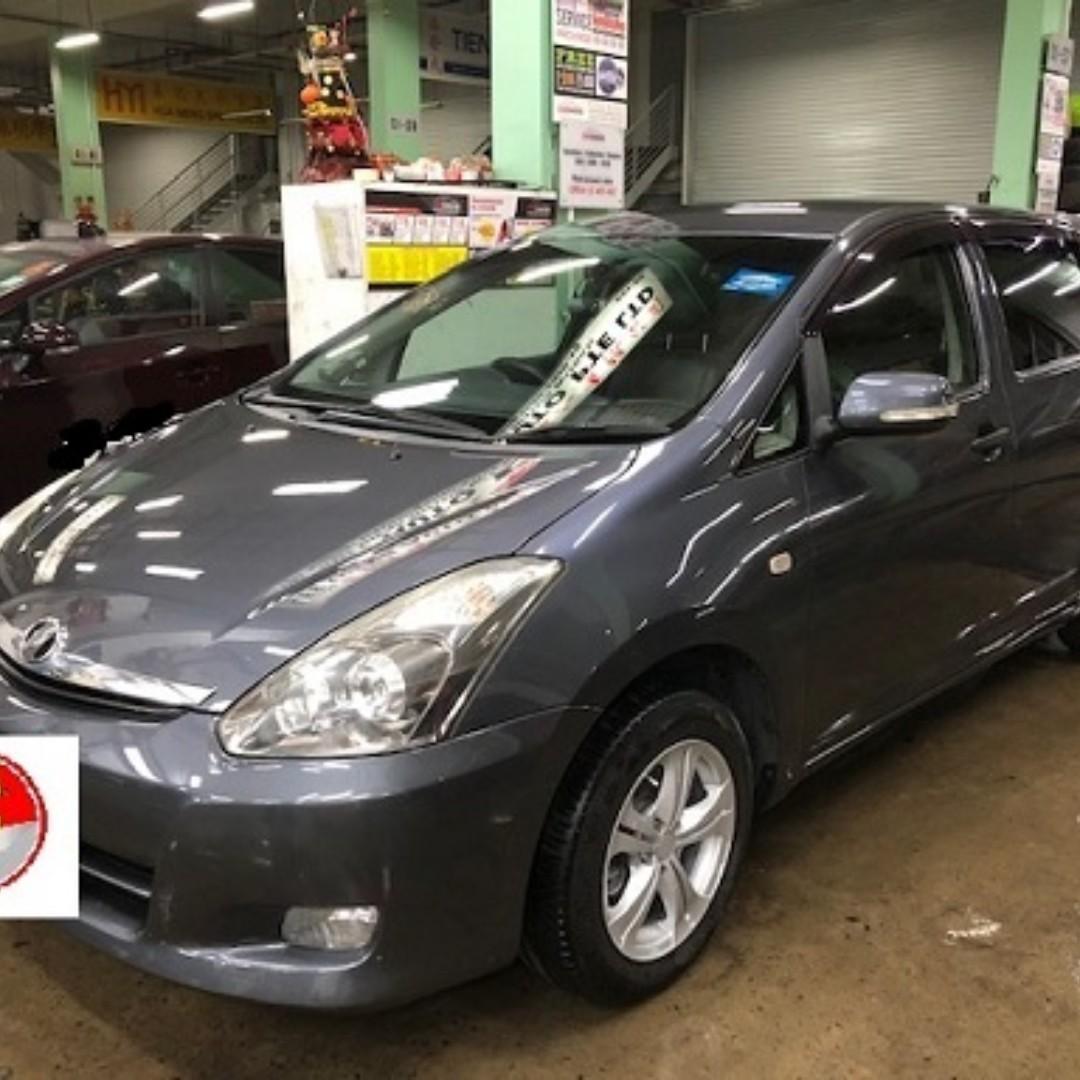 Toyota Wish 2007 , 7 seater  for grab /gojek  @ $380 per week